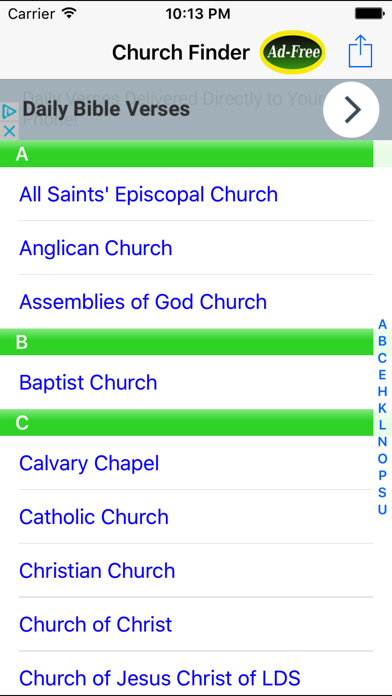 Church Finder: Find & Locate Nearby Churches