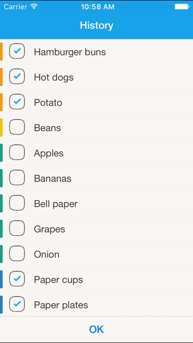 Grocery List - Remember To Buy Screenshot