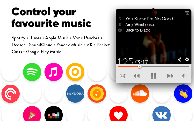 Simplify: control your favourite music players Screenshot