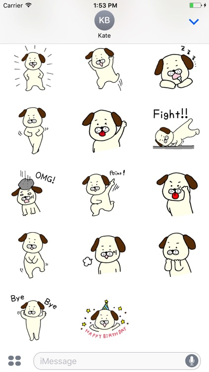 Reaction of a dog