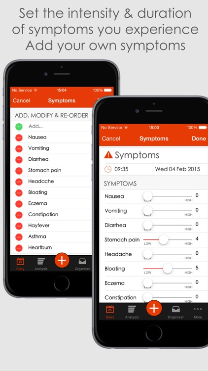 mySymptoms Food Diary & Symptom Tracker