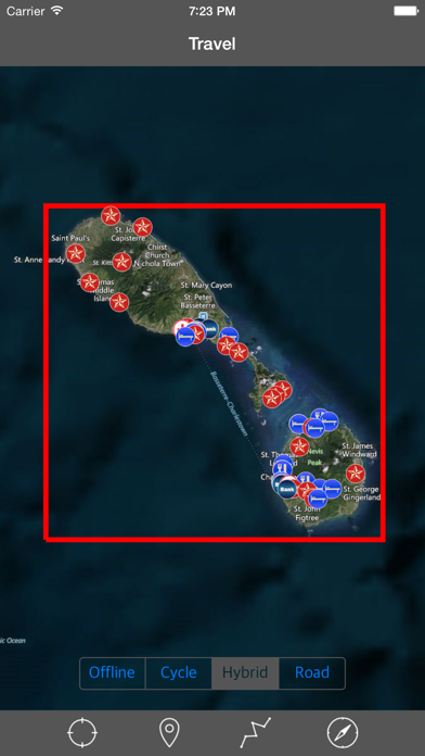 SAINT KITTS & NEVIS – GPS Travel Map Navigator
