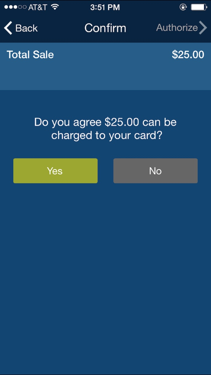 Chase Mobile Checkout Screenshot