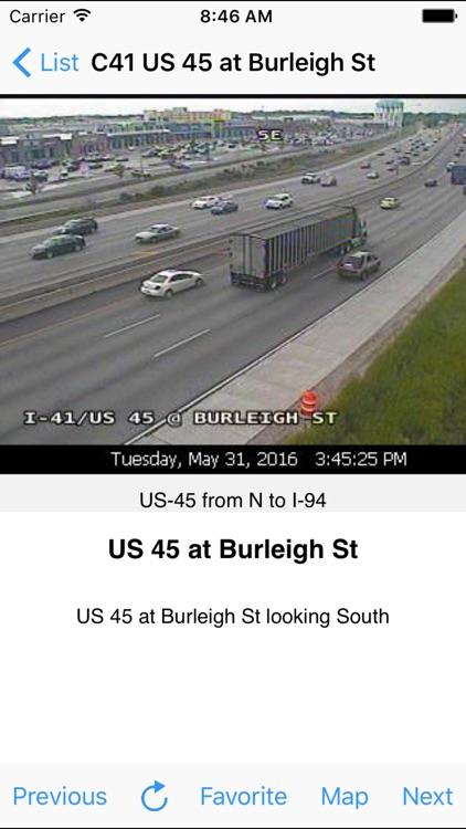 Milwaukee Traffic Cam +Map screenshot-4