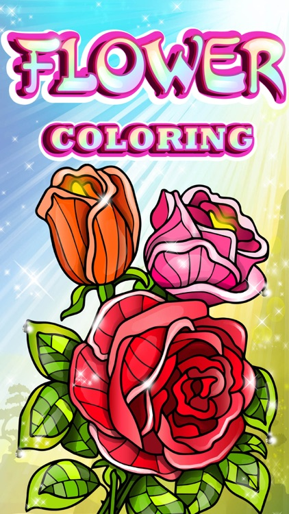 Flowers Coloring Pages for Adult with Rose Mandala