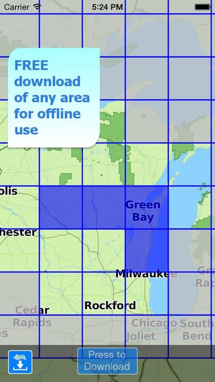 Aqua Map Wisconsin WI Lakes - Nautical Charts screenshot-4
