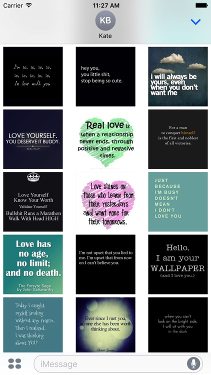 Animated Love Quotes Sticker Pack for iMessage
