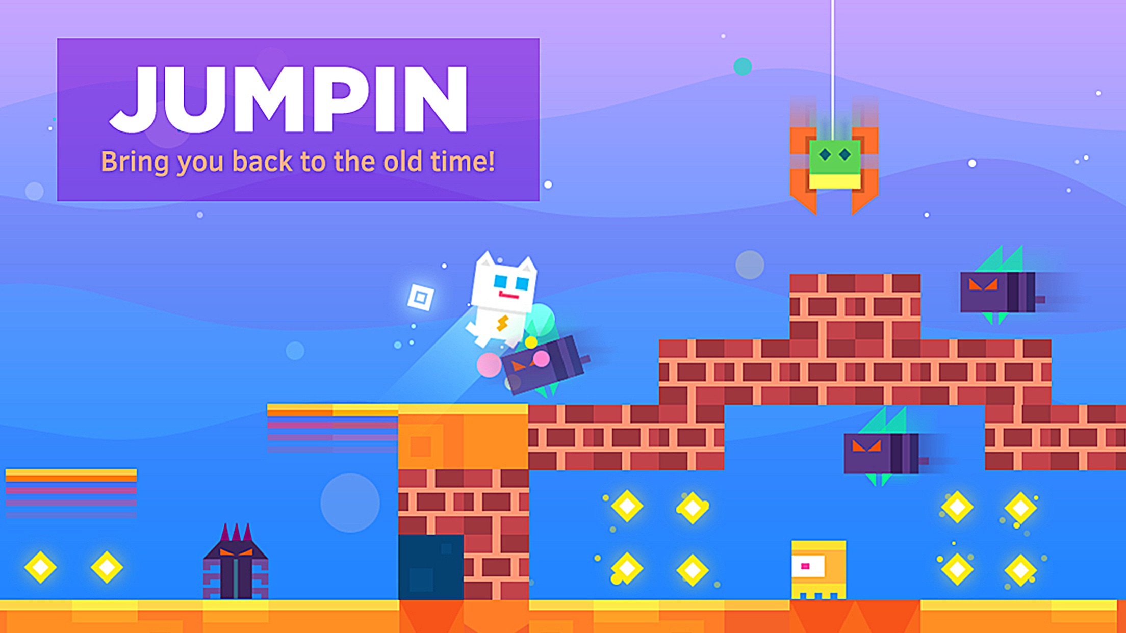 Screenshot do app Super Phantom Cat - Be a jumping bro.