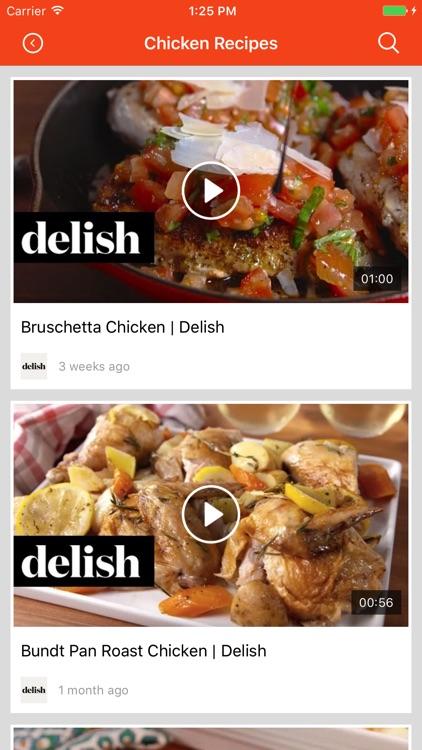 Chicken Recipes: Food recipes, cookbook, meal plan screenshot-3