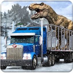 Snow Off Road Dino Truck Transport Simulation 2017