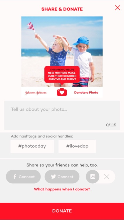 Donate a Photo - a free charity app
