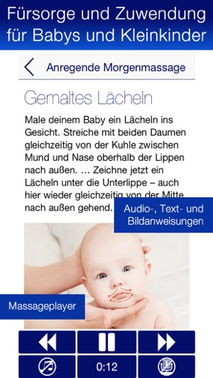 Babymassage mit Audioguide PRO Screenshot