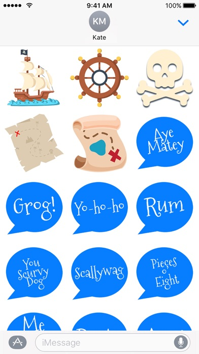 Pirate Stickers! Funny Sticker Pack for iMessage Screenshot