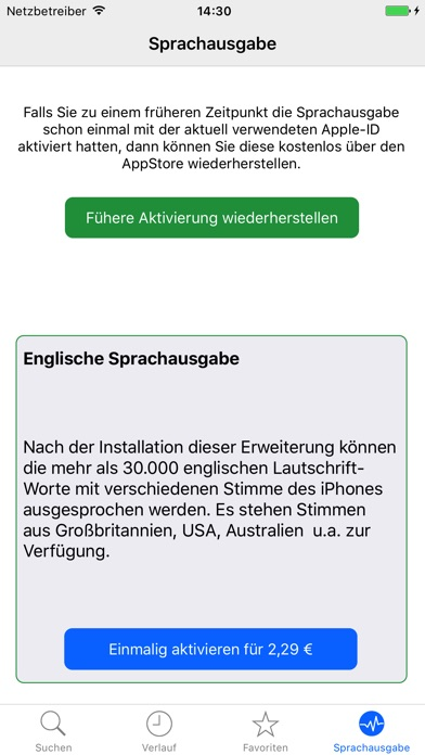 Screenshot for Deutsch-Englisch Wörterbuch, Nifty Words in Germany App Store