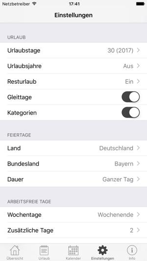 Jahresurlaub Planer Im App Store