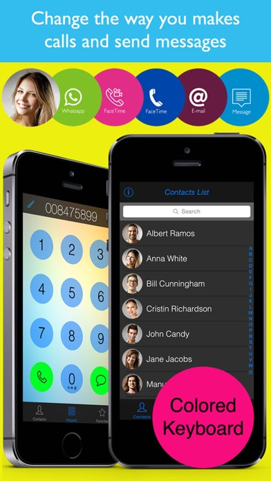 Colored Phonebook Simple