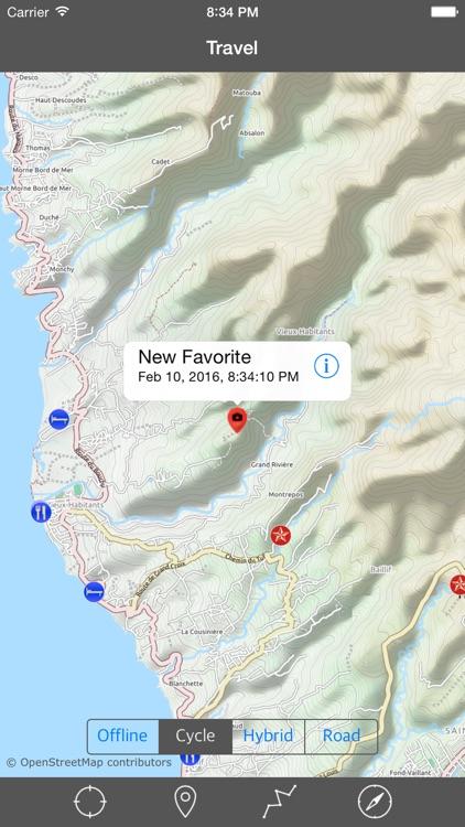GUADELOUPE – GPS Travel Map Offline Navigator
