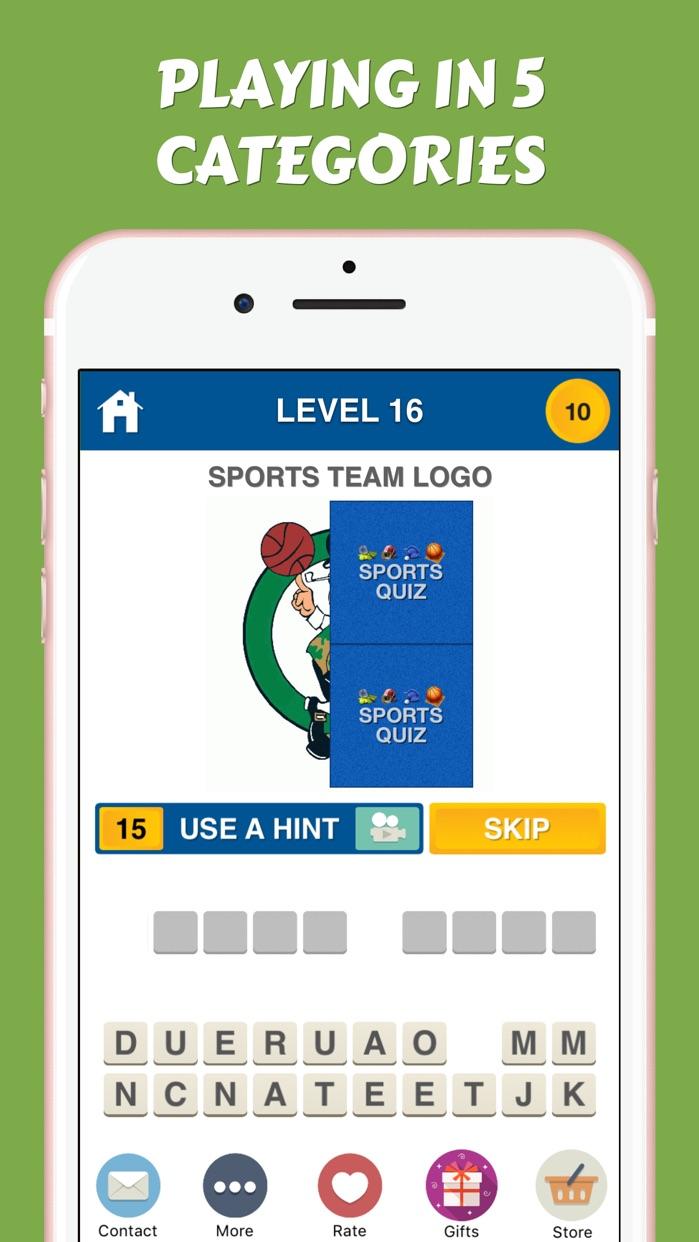 Sports Logos Quiz - American Collegiate Team Icons Screenshot