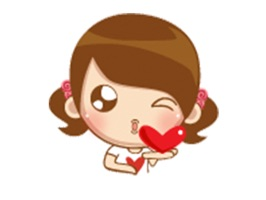 Add some animation lovely girl stickers to your message when you want to send a personalized greeting