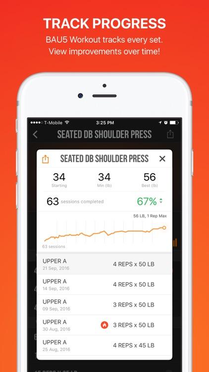 BAU5 Workout: GYM Weight Training Routine for MEN screenshot-4