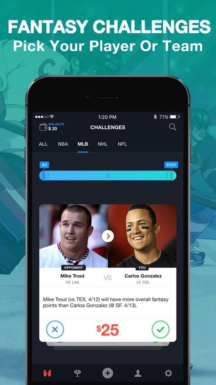 No Halftime - One on One Fantasy Sports Matchups screenshot-0