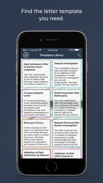 Screenshot for Widget Credit Repair Services in United States App Store