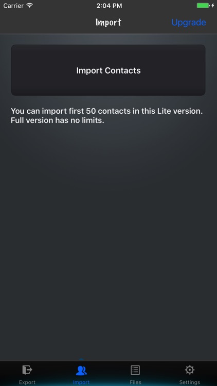 Contacts to vCard Lite screenshot-3