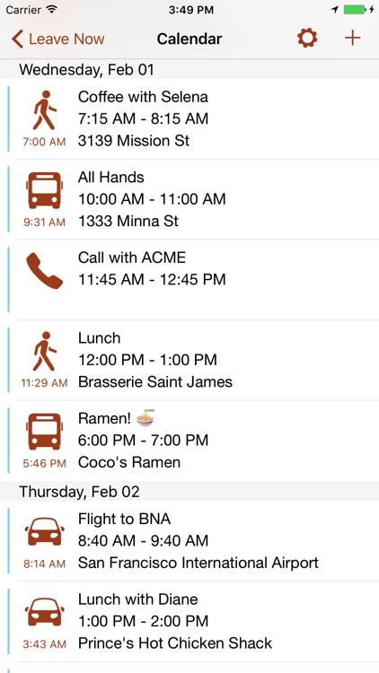 Leave Now — Departure Notifications, Right On Time