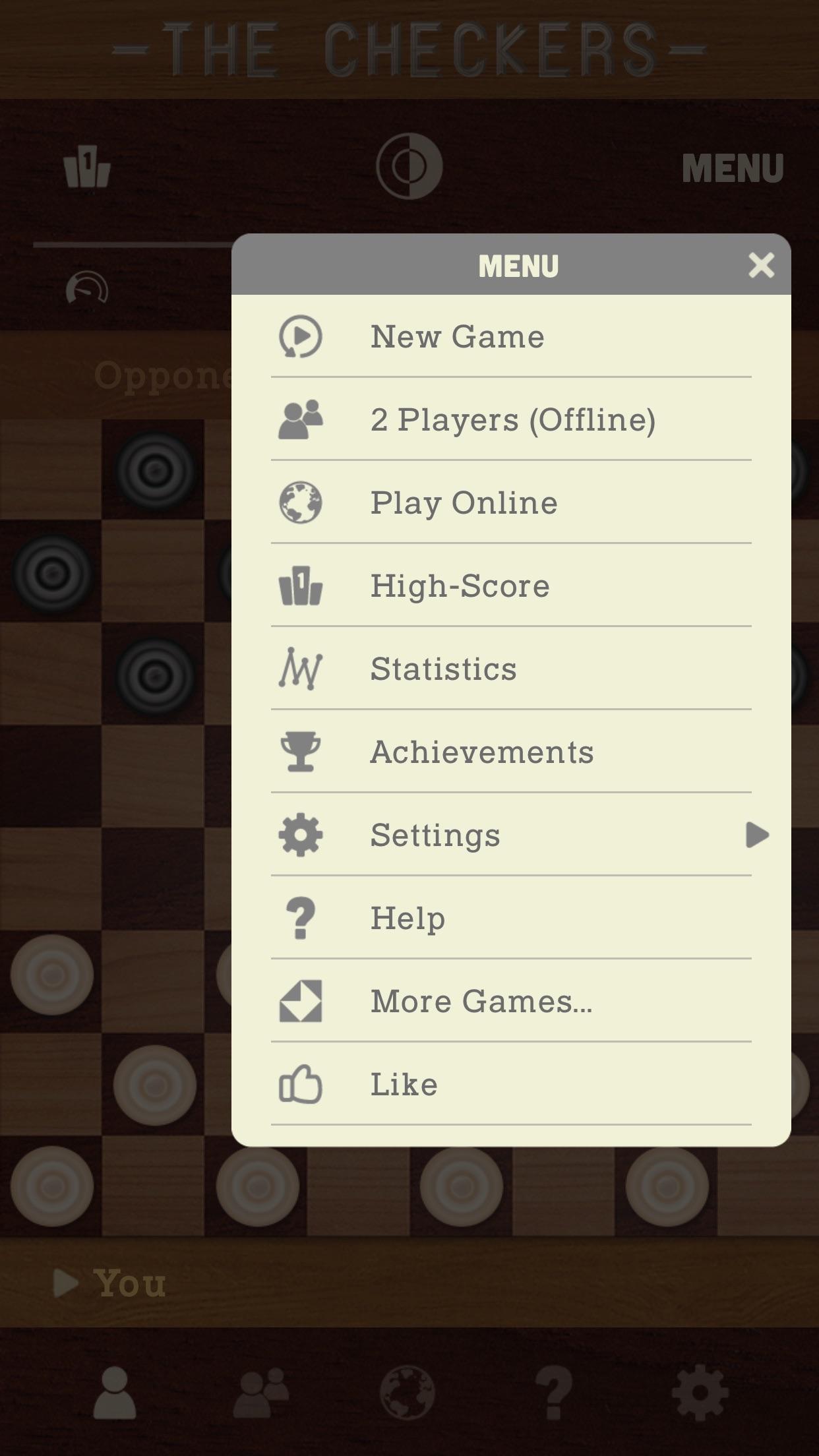 The Checkers - Classic Board Games Screenshot