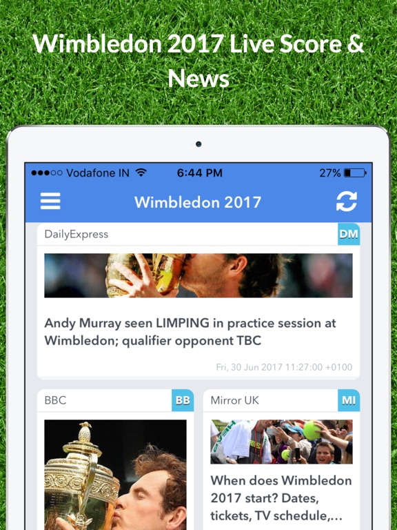 Livescore for Wimbledon 2017 Results and News App | App