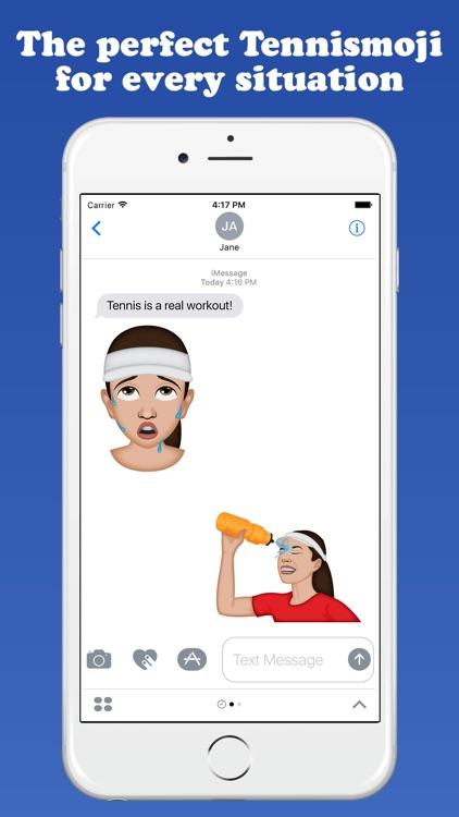 TennisMoji - Tennis Emoji Keyboard screenshot-3