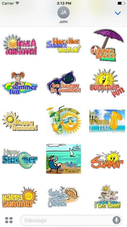 Animated Summer & Spring & Winter GIF Stickers screenshot-3