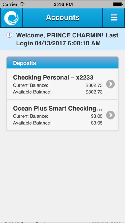 Ocean Bank Mobile Banking screenshot-0