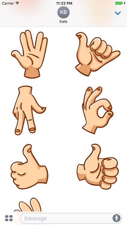 Hand Gestures - Stickers for iMessage screenshot-3