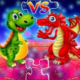 Dinosaur vs dragon: Puzzle