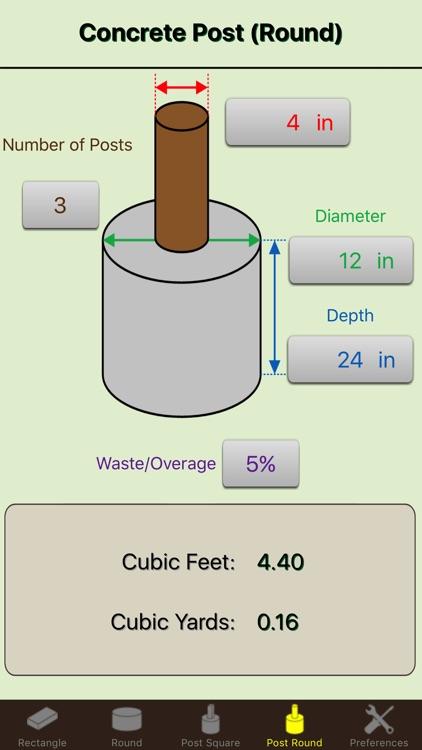Concrete Calc Elite - Cement Calculator Masonry screenshot-3