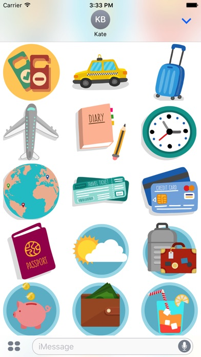 Travel - Stickers Pack for iMessage-2