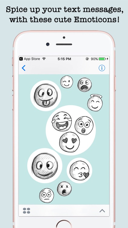 Handdrawn Emojis & Smileys For iMessage screenshot-3