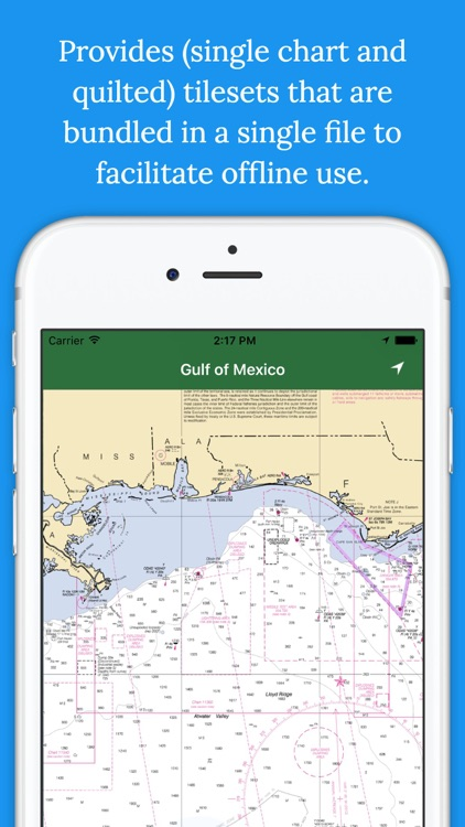 Marine Charts Offline: Gulf of Mexico (LOUISIANA)