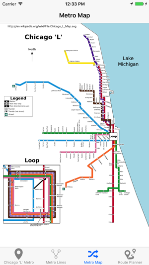 Chicago Subway Map Picture.Chicago L Metro Map