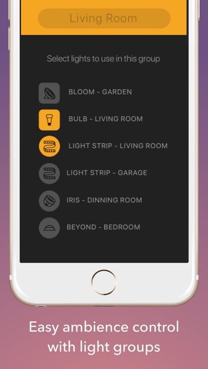 Lights for Philips Hue Lights - Scene Lighting app screenshot-3