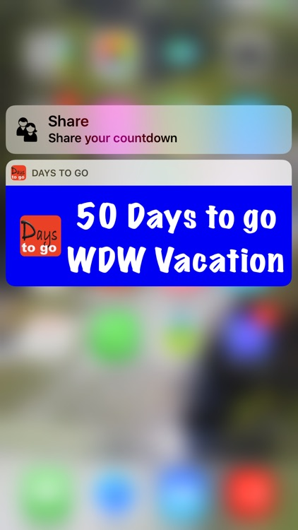 Days to go WDW countdown to your Disney Vacation