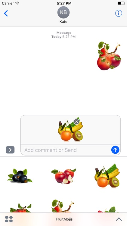 FruitMojis - Beautiful Fruit Stickers