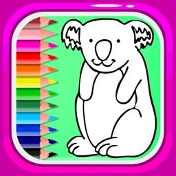 Animal Drawing Games Coloring Book Koala Bear