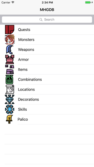 MH Generations Database on the App Store