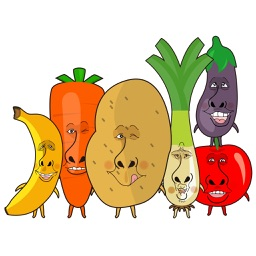 Funny vegetables and fruit characters