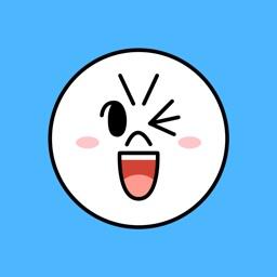 Witty-MOON Emoji - LINE FRIENDS