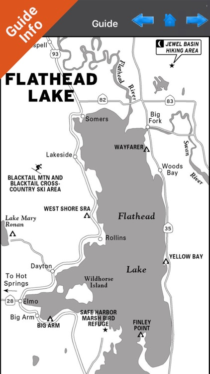 Flathead lake Montana charts HD GPS fishing maps screenshot-3
