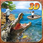 Crocodile Attack Simulator 3D – steer the wild alligator and hunt down farm animals icon