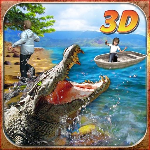 Крокодил атаки Simulator 3D - рулить дикий аллигатора и выследить сельскохозяйственных животных